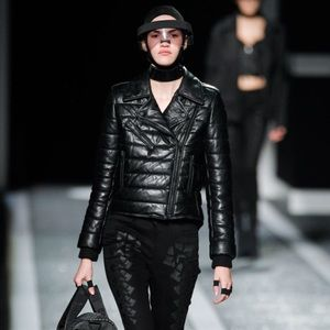Alexander Wang x H&M Leather Quilted Puffer Jacket